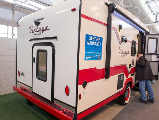 A 2018 Gulf Stream Vintage Cruiser at the Indy RV Expo,