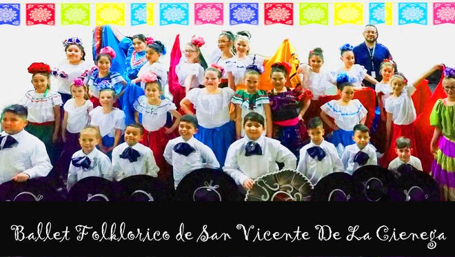 Ballet Folklorico performed at halftime of a Silver basketball game.
