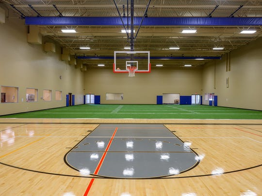 The Athlos Academy gym at its campus in Brooklyn Park,