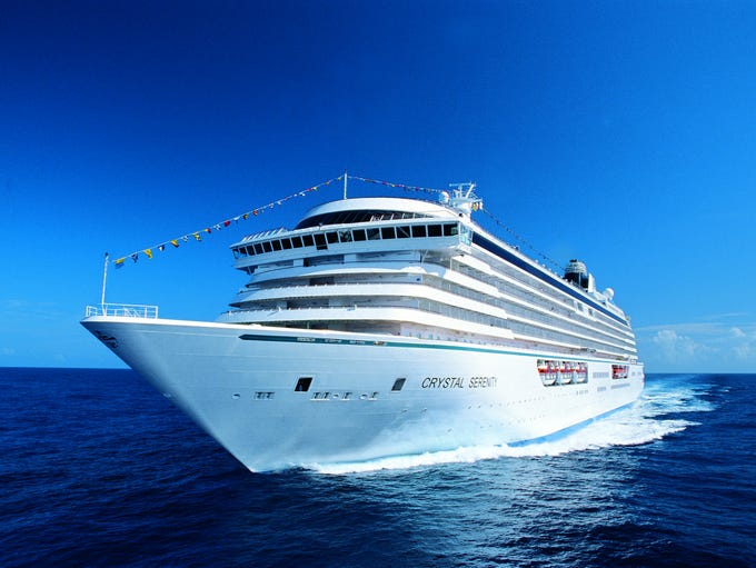 Unveiled in 2003, the 1,070-passenger Crystal Serenity
