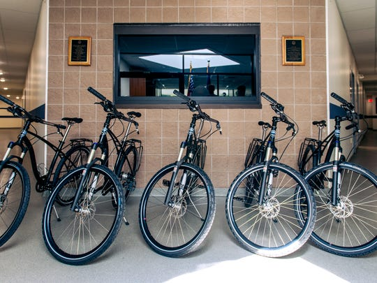 The Burlington Police Department received a fleet of five bikes on which officers will patrol.