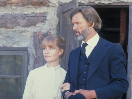 "Isabelle Huppert and Kris Kristofferson starred in the western ""Heaven's Gate."""