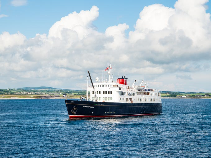 The Hebridean Princess is a small, 50-passenger cruise
