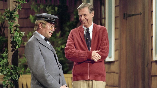 """David Newell (left) and Fred Rogers (right) in """"Won't You Be My Neighbor?"""""""
