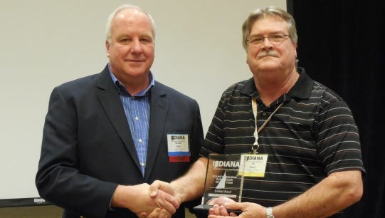 Ed Ward, right, maintenance supervisor for the Tippecanoe County Highway Department, was recently named Highway Supervisor of the Year.