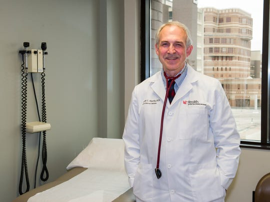 Dr. Vincent Martin, director of the Headache and Facial Pain Center at the UC Gardner Neuroscience Institute, delivered early results of a study at the University of Cincinnati about the connection between the early onset of puberty and migraine headaches in girls.