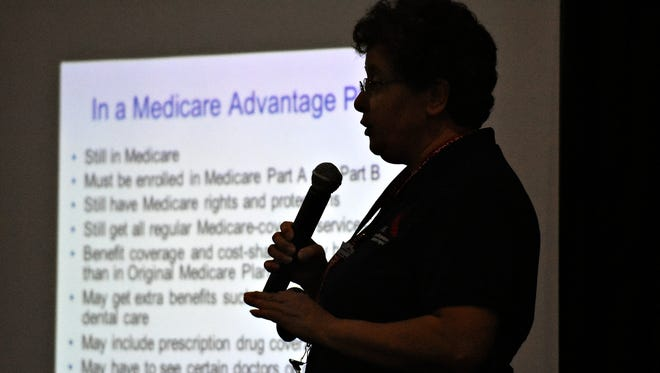 Medicare is discussed during the York County 50-Plus Expo at Memorial Hall in York City, Wednesday, Sept. 28, 2016. Dawn J. Sagert photo
