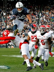FILE - In this Nov. 11, 2017, file photo, Penn State's