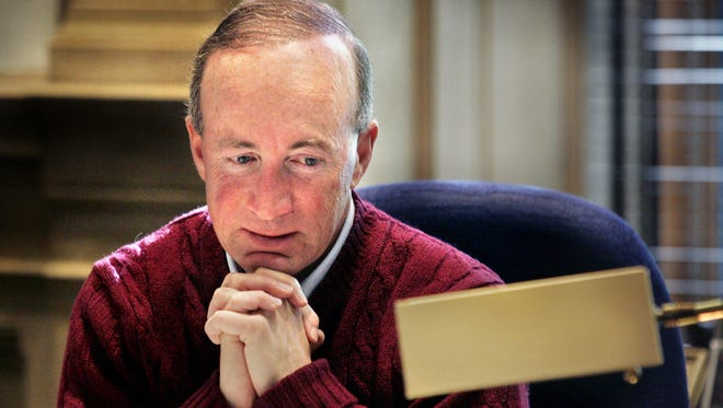 Mitch Daniels during his time as Indiana governor. He is now president of Purdue University. Charlie Nye / The Star.