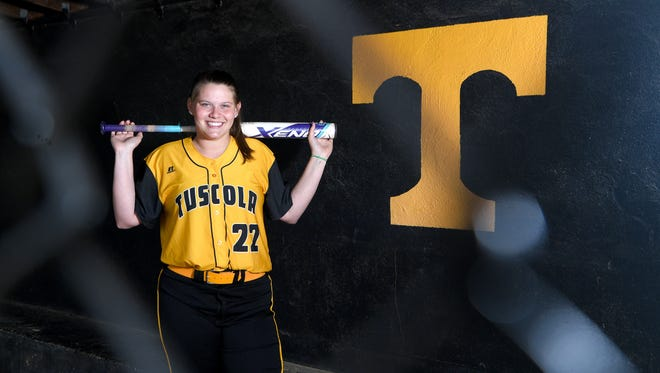 Tuscola senior pitcher Jordan Kielson has struck out 400 batters in her high school career which started at Pisgah High School and is ending with the Mountaineers at their Haywood County rival school.