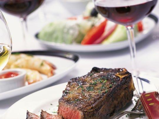 Sliced steak at Fleming's.