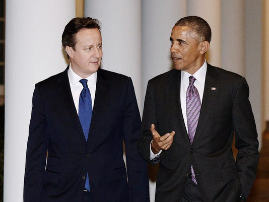 President Obama welcomes British Prime Minister David Cameron