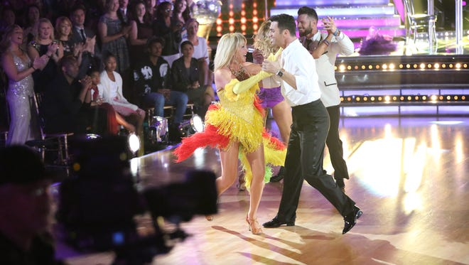 """The """"Dancing With The Stars"""" finale on May 19 featured encore performances by Season 20 cast members including Suzanne Somers seen here with partner Tony Dovolani."""