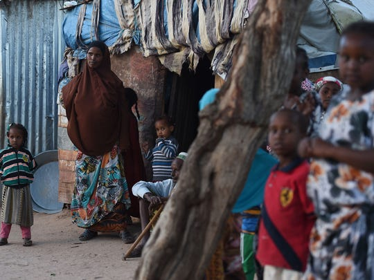 These are women and children in an internally displaced person camp in Hargeisa, Somalia.