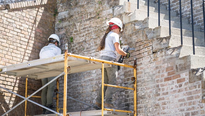 A National Park Service team of historic masonry experts is doing major preservation work at Fort Pickens.