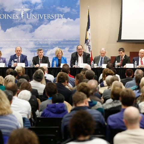 Candidates for governor take questions about the...
