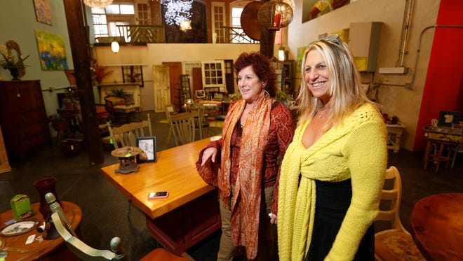 Sindi Landman and Lisa Shapot started The Think Tank in Garnerville, which combines art, design, decoration and construction. The partners opened the business in August.