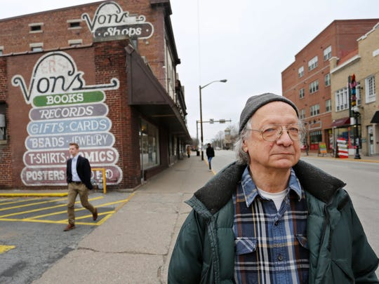 John von Erdmannsdorff, owner of Von's Shops, Tuesday, January 24, 2017, in the Chauncey Village in West Lafayette.