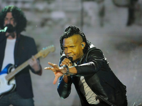 "Michael Tait of the Newsboys performs ""God's Not Dead"""