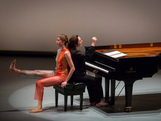 Simone Dinnerstein with dancer