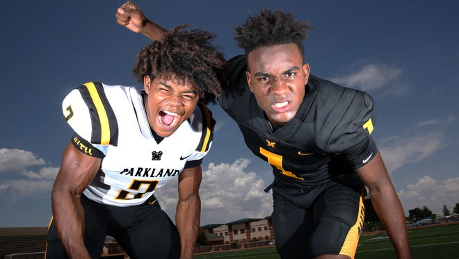 Parkland senior running back Deion Hankins, left, and senior wide receiver Khatib Lyles are two reasons why the Matadors are among the best teams in the city going into the 2018 prep football season.