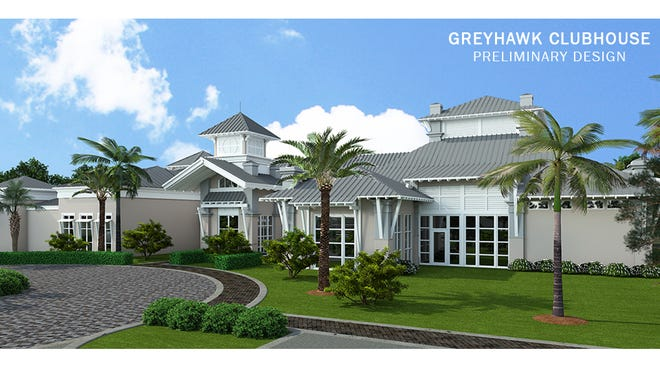 Construction is underway for the amenity center at Pulte Homes' Greyhawk at Golf Club of the Everglades.