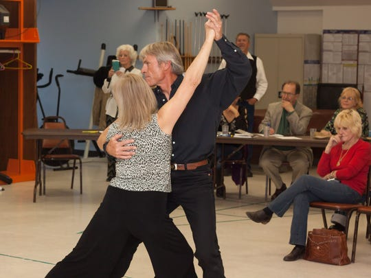 Mark Warren and Patience Besancon dance an American Tango.