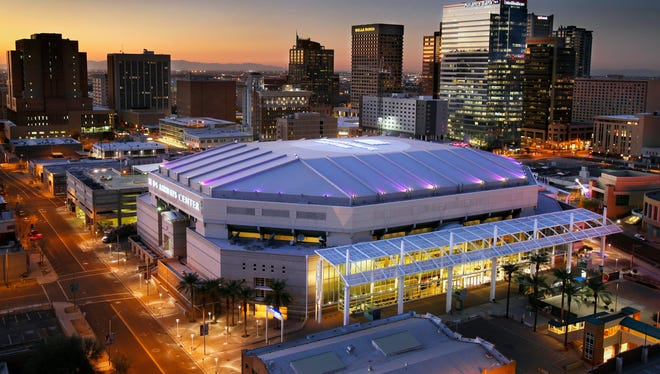 The US Airways Center Wednesday, Feb. 1, 2012 in downtown Phoenix.