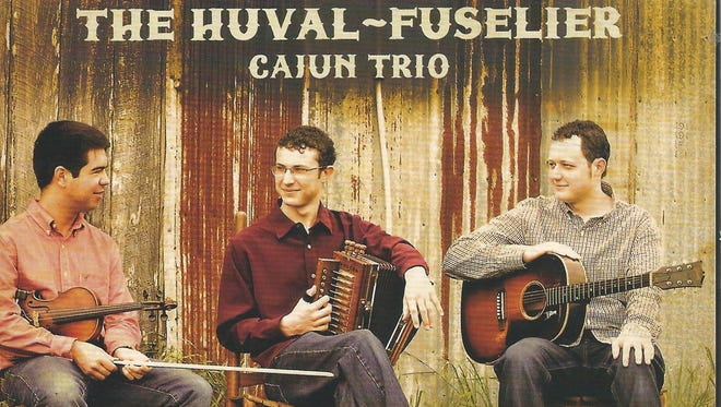 Members of the Huval-Fuselier Cajun Trio include, from left, Zach Fuselier, Luke Huval and Phillip Huval.