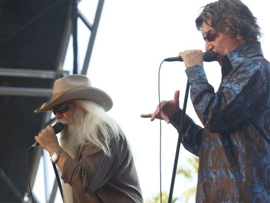 The Oakridge Boys perform on the Palamino Stage during the Stagecoach Festival Sunday.
