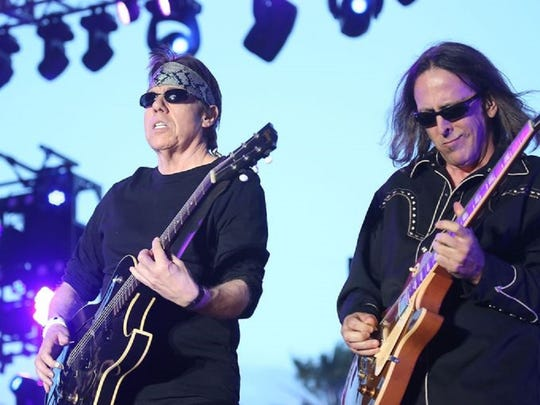 George Thorogood and the Destroyers perform on the Palamino Stage during the Stagecoach Sunday.