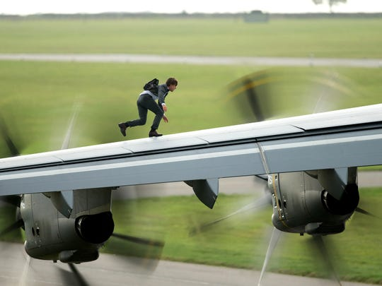 "Tom Cruise in a scene from the motion picture ""Mission Impossible 5."""