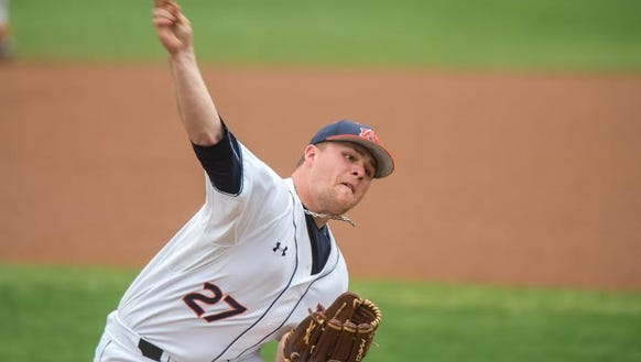 Auburn pitcher Justin Camp earned a quality start in