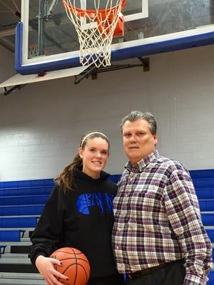 Paul VI frosh Carly Stroemel is following her father, Russ, as a star basketball player