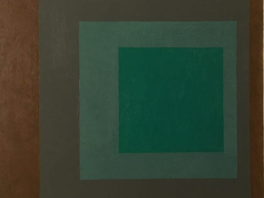 "Josef Albers (1888-1976), ""Study for Homage to the Square (Consonant),"" 1957, oil on Masonite. Gift of The William S. Huff Collection."