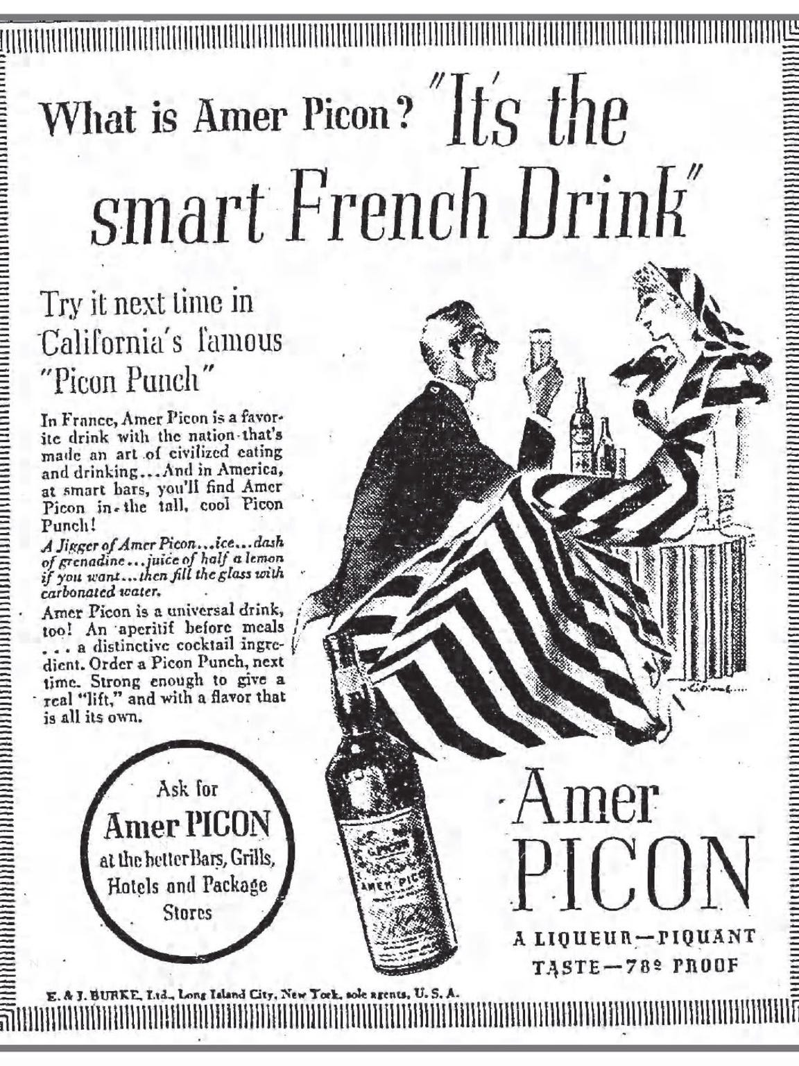 An Amer Picon advertisement in a 1936 edition of the