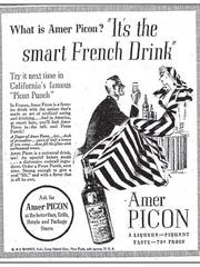 An Amer Picon advertisement in a 1936 edition of the Los Angeles Times references the Picon punch, a California favorite.