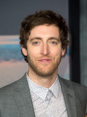 """Actor Thomas Middleditch attends the premiere of """"Kong: Skull Island"""" on March 8, 2017, in Hollywood, Calif."""