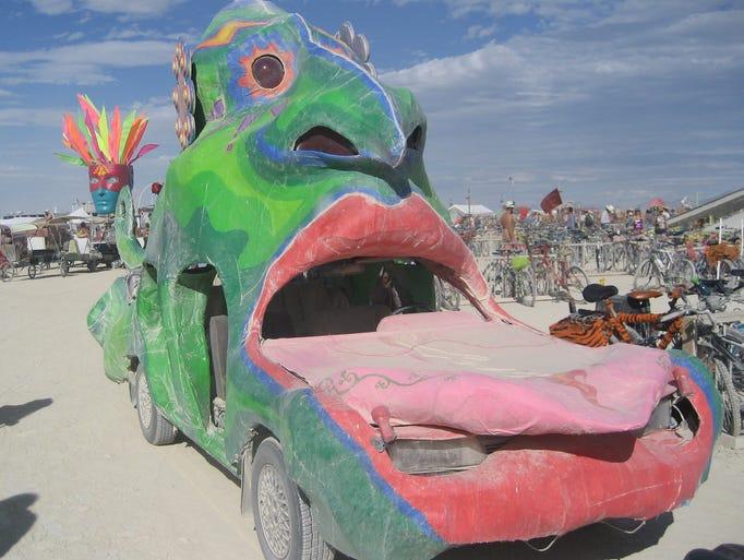 An art car at the 2007 Burning Man.