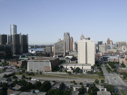 The view of the City of Detroit.