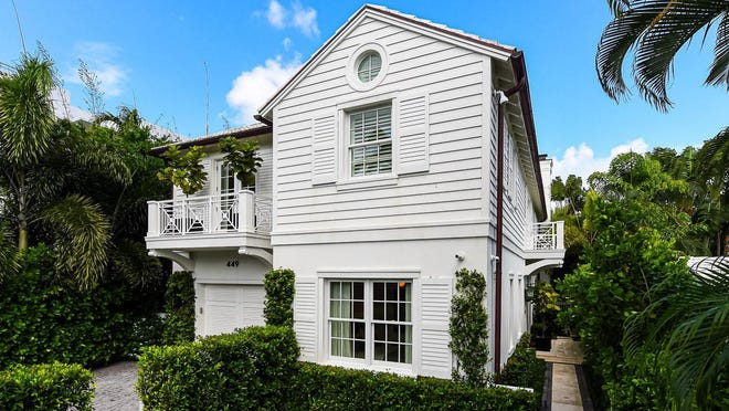 Adrian Tauro sold this house at 449 Australian Ave. to Bennie M. and Stephanie Bray, who acted as trustees of a family trust in the sale recorded at $5.81 million.
