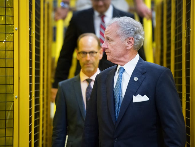 Governor Henry McMaster gets a tour of Tower International