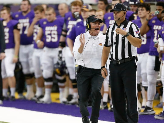 Mark Farley's Northern Iowa team will finish the regular season against Missouri State.