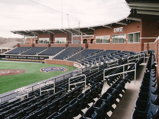 A look at the new Dallas Baptist baseball stadium,