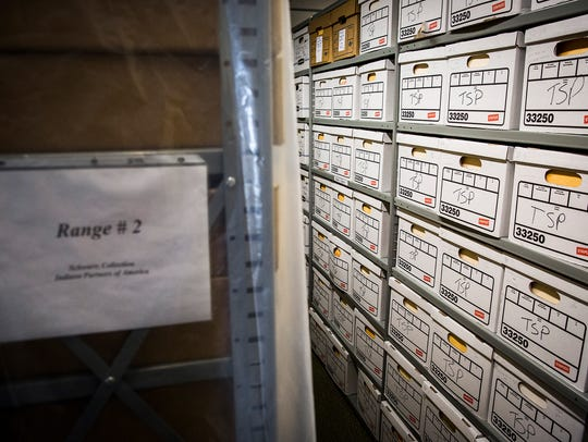 About 300 boxes full of Star Press newspaper clippings