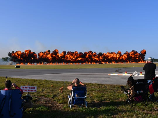 Tora, Tora, Tora. Scenes from Friday's Space Coast