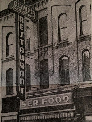 The Olympia Tearoom on Chenango Street, as it appeared in 1964.