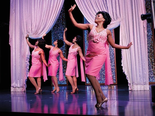 Cast members fulfill the role of the Shirelles, who