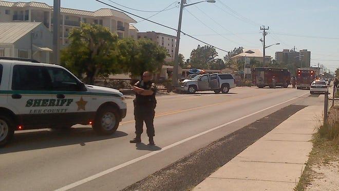 SUV crash on Estero Blvd. Fort Myers Beach