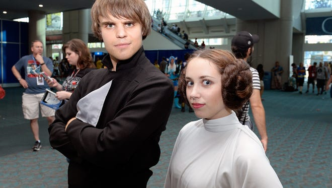 Star Wars cosplayers.